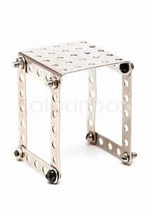 steel building kit with bolts and nuts on white background With bolt up metal building kits