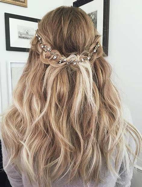 Prom Hairstyles Half Updos by Half Updo With A Hairpiece Stayglam Hairstyles