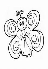 Butterfly Coloring Preschool Kindergarten Crafts Preschoolcrafts sketch template