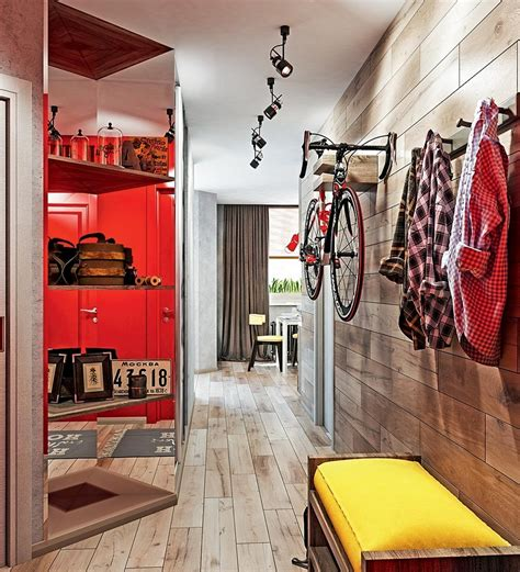 Dynamic Oneroom Apartment Interior For Young People