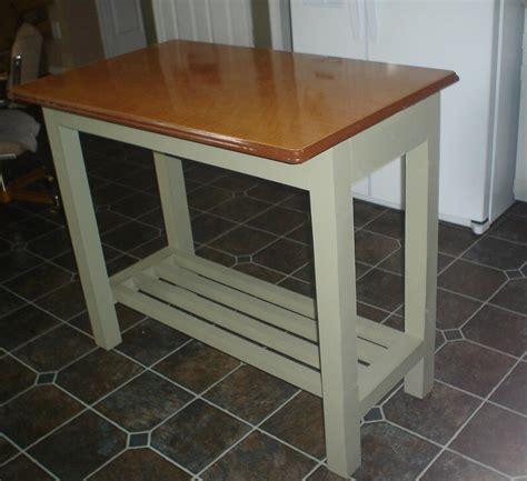 kitchen island genius idea upcycle  vintage metal table top   counter retro renovation