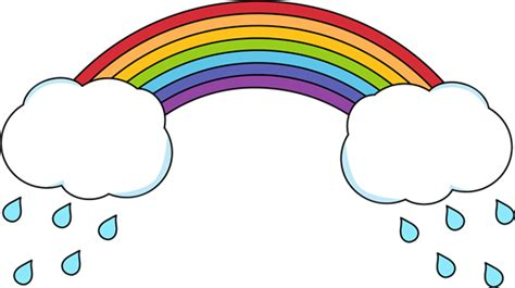 Rainbow And Rain Clip Art
