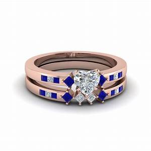 heart shaped kite style channel set accent diamond wedding With wedding ring sets with sapphire accents