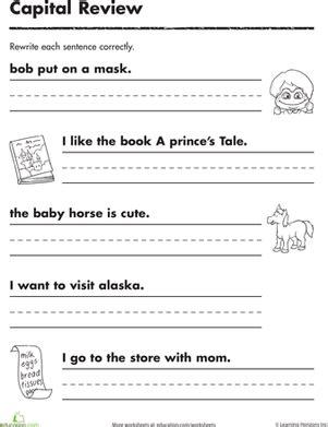 practicing capitals worksheet education