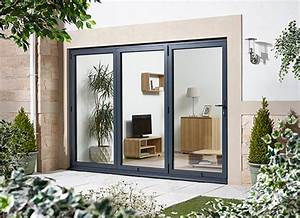Bifold doors aluminium grey folding patio doors for Bifold patio doors uk