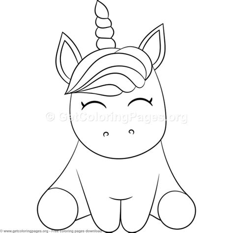 cute cartoon unicorn coloring pages getcoloringpagesorg