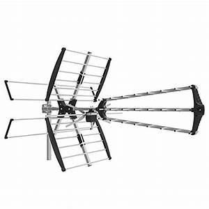 1byone digital outdoor roof hdtv antenna high gain vhf With vhf uhf prescaler
