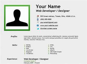 25 free html resume templates for your successful online With create simple resume online free