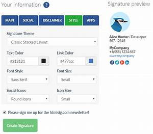 professional email signature examples tips free html With free html email template generator