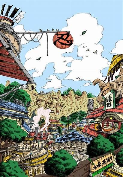 Konoha Naruto Aesthetic Anime Village Leaf Streets