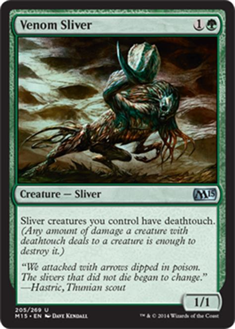 Best Sliver Deck 2015 by Venom Sliver Creature Cards Mtg Salvation