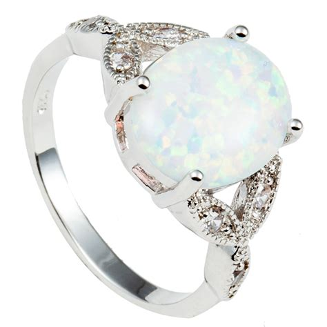 size 4 to 12 925 sterling silver oval cut australia fire opal ring wedding engagement promise
