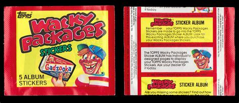 pack of wacky packages 1982 album series unopened pack