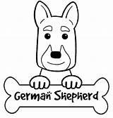 Shepherd German Coloring Puppy Printable Drawing Anitavalleart Popular Getdrawings Coloringhome sketch template
