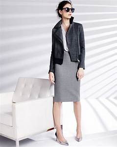 The 25+ best Grey pencil skirt ideas on Pinterest | Corporate attire chic Grey jumper outfit ...