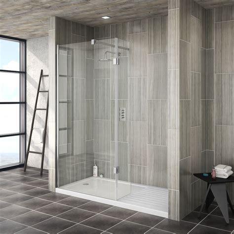 saturn walk  shower enclosure  hinged return panel