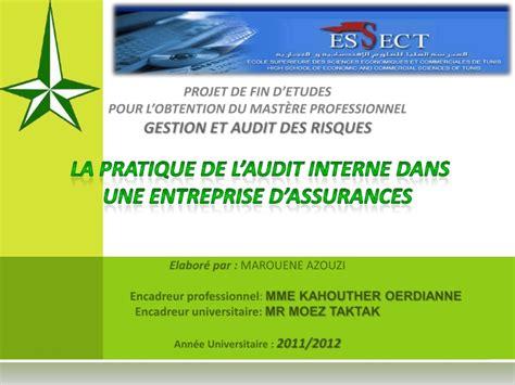 le de la secretaire dans une entreprise la pratique de l audit interne dans une entreprise d assurances