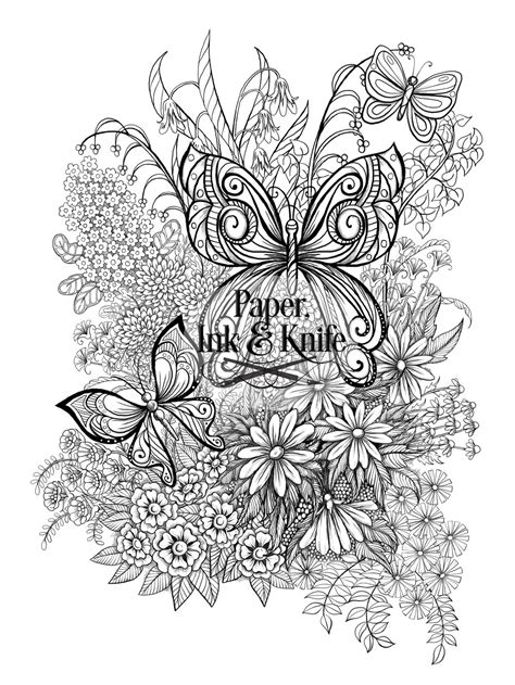 unicorn family   butterflies  flowers coloring pages set paper
