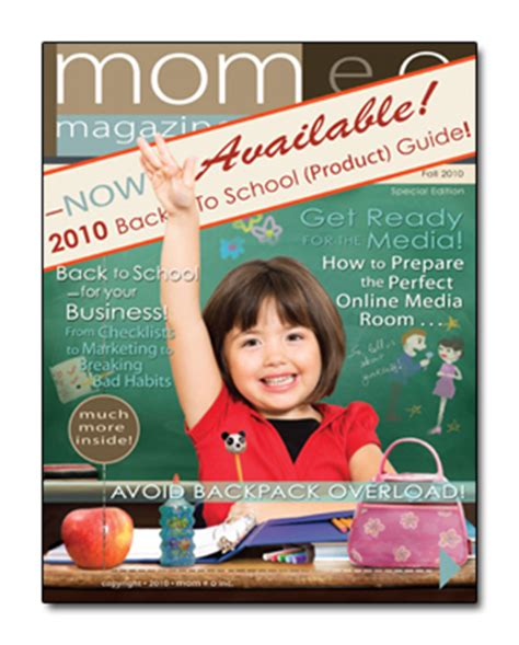 MOMeo Magazine Back to School Guide: Back to School means