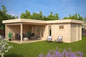 Gartenhaus Mit Dachterrasse : gartenhaus mit sauna a 22m2 70mm 3x7 hansagarten24 ~ Sanjose-hotels-ca.com Haus und Dekorationen