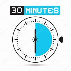 Thirty Minutes Stop Watch  Clock Vector Illustration — Stock Vector © Mejn #45285211