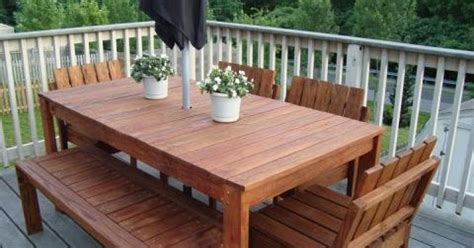 wooden tables make your own outdoor wood dining table