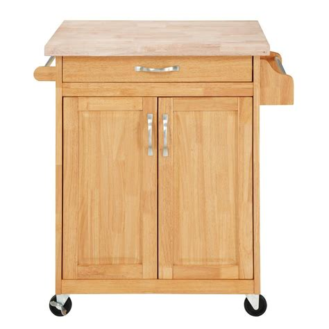 kitchen island rolling cabinet cart solid wood counter top