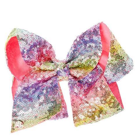 pearl bow hair clip jojo siwa large turquoise glitter signature hair bow