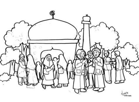 gambar 27 gambar sketsa mewarnai masjid terbaru 2017