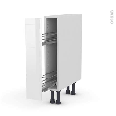 epice cuisine meuble range épice epoxy 1 porte l15xh70xp58 stecia blanc