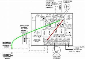 Crown Bsi Steam Boiler  U0026 Ms-40 Indirect Water Heater  Wiring Configuration