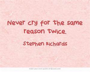Never cry for t... Colorful Future Quotes