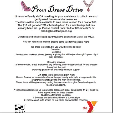 ymca prom dress drive mason county high school