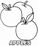 Coloring Apple Apples Pages Three Fruit Sheet Printable Fruits Children Topcoloringpages sketch template