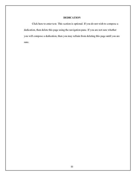 dedication page thesis  dissertation research guides  sam houston state university