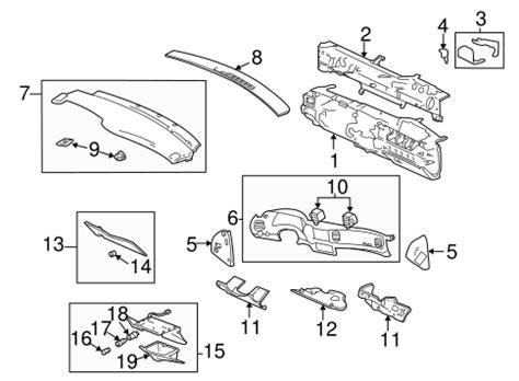 instrument panel components parts   chevrolet