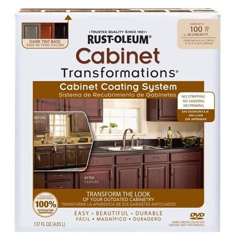 rustoleum cabinet transformations light kit shop rust oleum cabinet transformations dark base satin