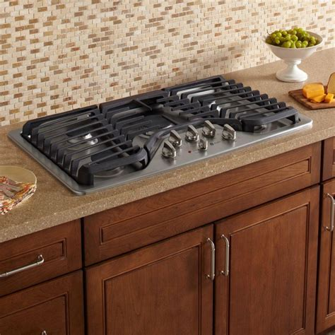 ge gas cooktop ge profile pgp976setss 36 in gas cooktop in stainless