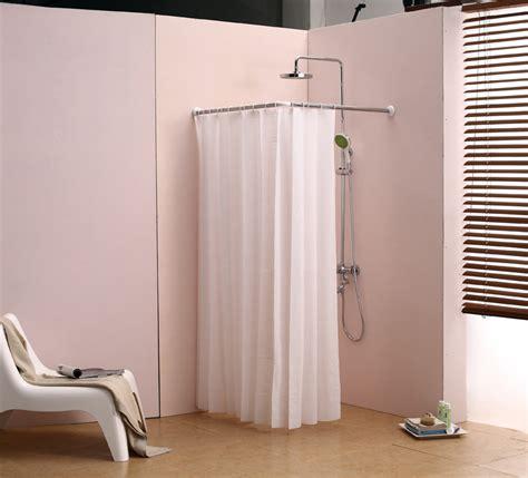 Shower Curtain Rod Corner by L Bathroom Curtain Cloth Hanging Rod Corner Shower Curtain