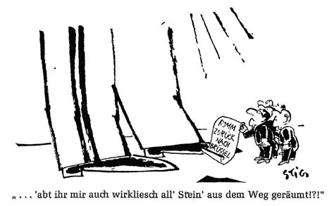 caricature de stig sur l attitude du g 233 n 233 ral de gaulle lors de la crise de la chaise vide et sur