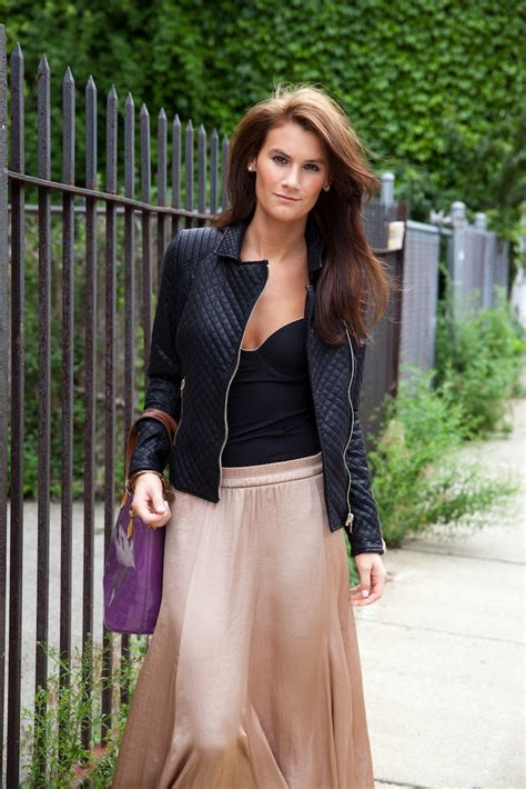 Toughen up a maxi skirt