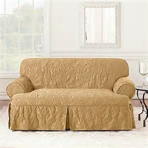 sure fit 174 matelasse damask 1 t cushion loveseat slipcover www bedbathandbeyond