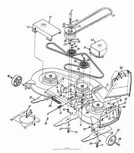 Mtd 134o695h352  1994  Parts Diagram For Deck Assembly  Blades