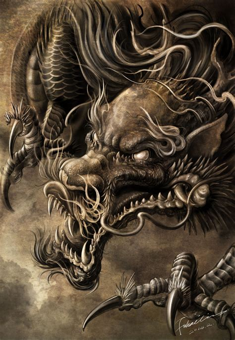 dragon artwork  hailin fu wwwfacebookcom instagramathailin tattoo pinterest