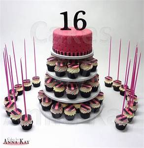 Sweet Sixteen Cupcake Tower - CakeCentral com