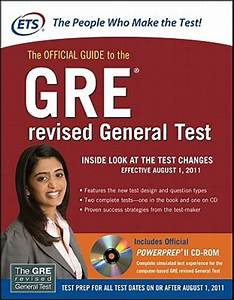 ETSs Official Guide To The GRE Revised General Test Book