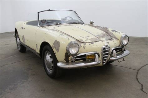 Alfa Romeo Giulietta For Sale by 1959 Alfa Romeo Giulietta Spider For Sale
