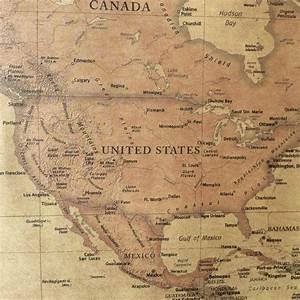Affiche Carte Du Monde : affiche carte du monde vintage style r tro les ~ Dailycaller-alerts.com Idées de Décoration