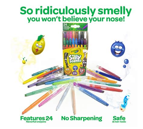 crayola silly scents crayons  count scented art tools