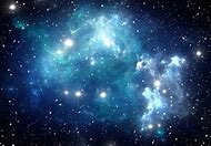 Blue Space Nebula Galaxy